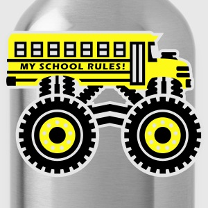 The Monsterous School Bus Kids' Shirts - Water Bottle