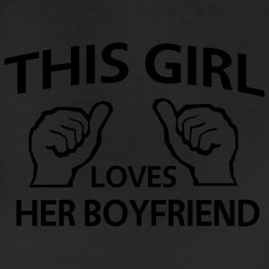 This girl loves her boyfriend Women's T-Shirts - Leggings