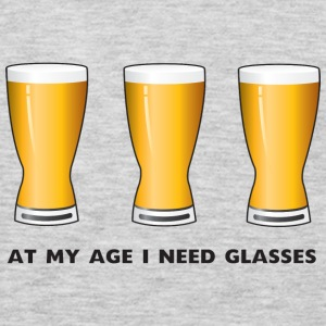 Beer. At my age I need glasses Women's T-Shirts - Men's Premium Long Sleeve T-Shirt