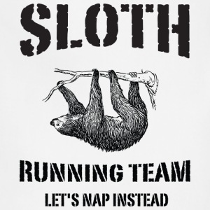 Sloth Running Team. Let's Nap Instead Women's T-Shirts - Adjustable Apron