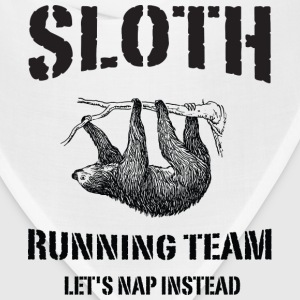 Sloth Running Team. Let's Nap Instead Women's T-Shirts - Bandana