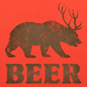 Vintage Bear+Deer=Beer - Tote Bag