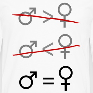 Gender Equality. It's Simple. Women's T-Shirts - Men's Premium Long Sleeve T-Shirt