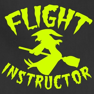 witch on a broomstick flight instructor HALLOWEEN Women's T-Shirts - Adjustable Apron
