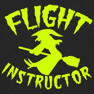 witch on a broomstick flight instructor HALLOWEEN Women's T-Shirts - Men's Premium Long Sleeve T-Shirt