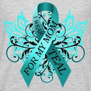 I Wear Teal for My Mom T-Shirts - Men's Premium Long Sleeve T-Shirt