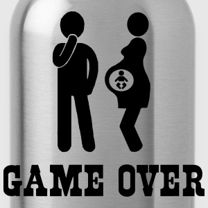 Pregnant. Game Over T-Shirts - Water Bottle