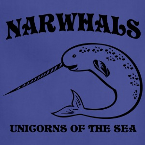 Narwhals. Unicorns of the Sea Women's T-Shirts - Adjustable Apron