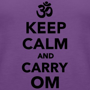 Keep calm and carry om Women's T-Shirts - Women's Premium Tank Top