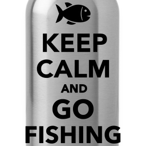 Keep calm and go fishing Kids' Shirts - Water Bottle