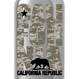California Digital Camouflage - Water Bottle