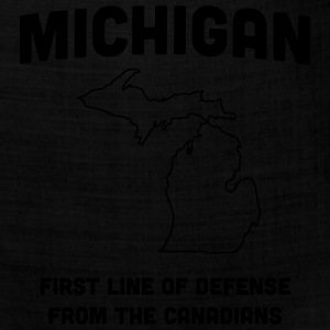 Michigan. First Line of Defense from Canadians Women's T-Shirts - Bandana