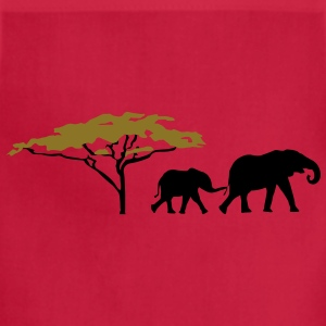 Elephants in the savannah Shirt - Adjustable Apron