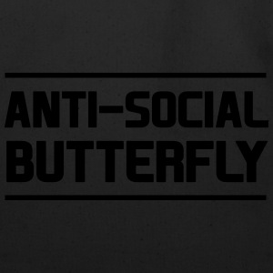 Anti-Social Butterfly T-Shirts - Eco-Friendly Cotton Tote