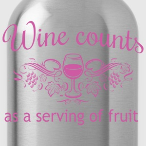 Wine Counts as a Serving of Fruit T-Shirts - Water Bottle