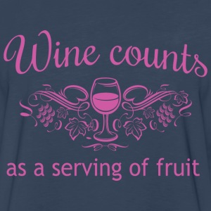 Wine Counts as a Serving of Fruit T-Shirts - Men's Premium Long Sleeve T-Shirt