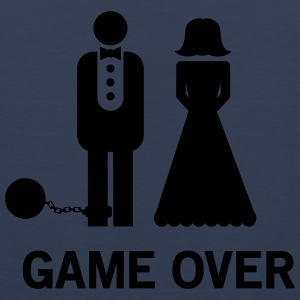 Wedding. Game Over Ball and Chain Women's T-Shirts - Men's Premium Tank