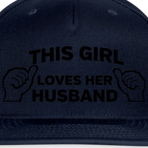 This Girl Loves Her Husband Women's T-Shirts - Snap-back Baseball Cap