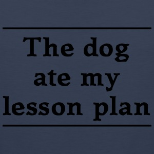 The dog ate my lesson plan T-Shirts - Men's Premium Tank