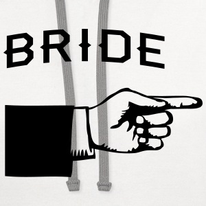 Bride Hand Pointing Right T-Shirts - Contrast Hoodie