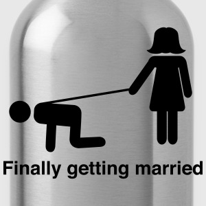 Finally Getting Married Leash T-Shirts - Water Bottle