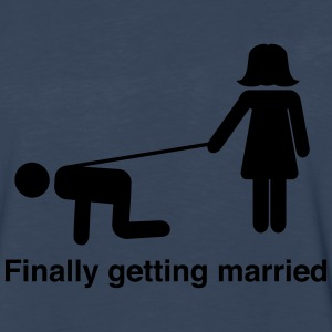 Finally Getting Married Leash T-Shirts - Men's Premium Long Sleeve T-Shirt