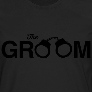 The Groom Handcuffs T-Shirts - Men's Premium Long Sleeve T-Shirt