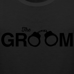 The Groom Handcuffs T-Shirts - Men's Premium Tank