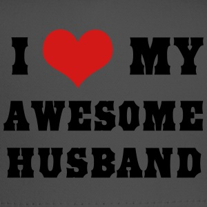 I love my awesome husband Women's T-Shirts - Trucker Cap