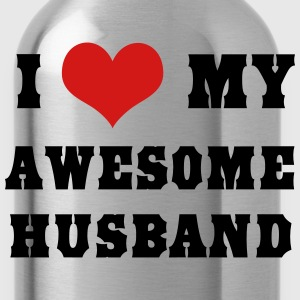 I love my awesome husband Women's T-Shirts - Water Bottle