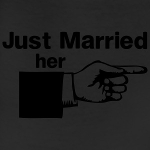 Just Married Her Pointing Finger Women's T-Shirts - Leggings