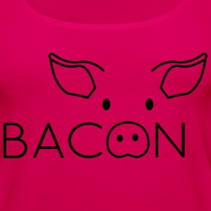 Bacon Pig Face T-Shirts - Women's Premium Tank Top