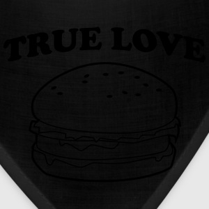 True Love Hamburger Women's T-Shirts - Bandana
