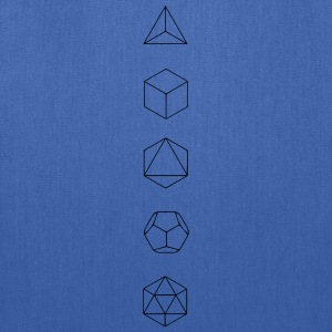 Platonic Solids, Sacred Geometry, Evolution Women's T-Shirts - Tote Bag