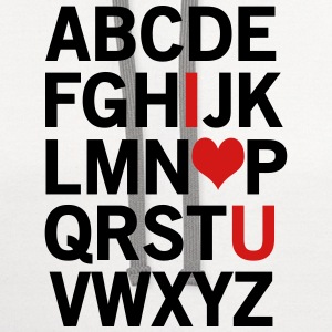 Alphabet I Love You T-Shirts - Contrast Hoodie