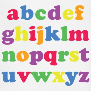Kids Color Alphabet T-Shirts - Adjustable Apron