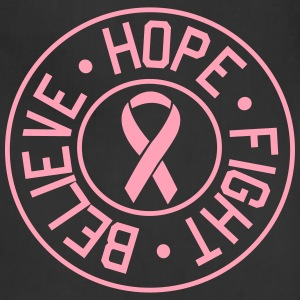 Believe, Hope, Fight. Breast Cancer Women's T-Shirts - Adjustable Apron
