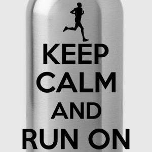 Keep calm and run on T-Shirts - Water Bottle
