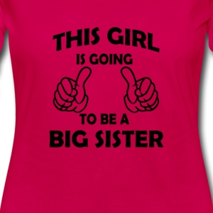 this girl is going to be a big sister  Kids' Shirts - Women's Premium Long Sleeve T-Shirt