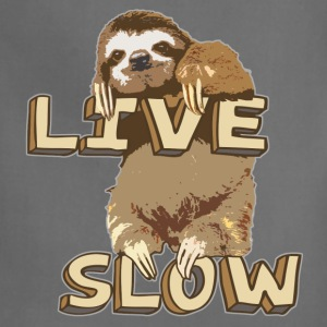 Funny Sloth - LIVE SLOW - Adjustable Apron