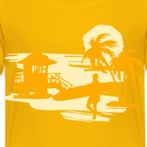 Surfers Beach Kids' Shirts - Toddler Premium T-Shirt