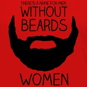 There's a name for men without beards - women - Women's Premium Long Sleeve T-Shirt