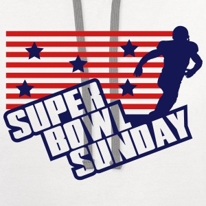 Super Bowl Sunday T-Shirts - Contrast Hoodie
