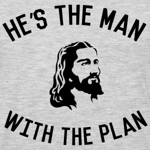 Jesus. He's the man with the plan Women's T-Shirts - Men's Premium Long Sleeve T-Shirt