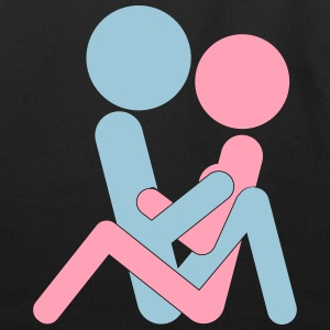 Kamasutra - Hugging Position T-Shirts - Eco-Friendly Cotton Tote