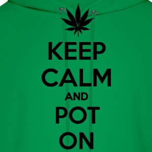keep calm and pot on T-Shirts - Men's Hoodie