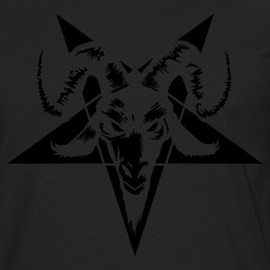 Goat Head with Pentagram (inverted) T-Shirts - Men's Premium Long Sleeve T-Shirt