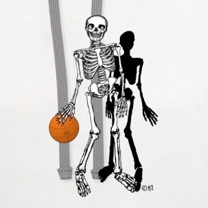 skeleton basketball T-Shirts - Contrast Hoodie