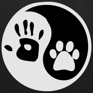 ying yang human hand dog paw T-Shirts - Eco-Friendly Cotton Tote
