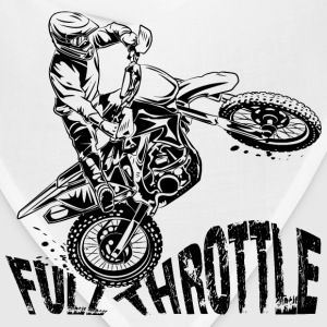 Off-Road Motocross Dirt Bike Full Throttle T-Shirts - Bandana
